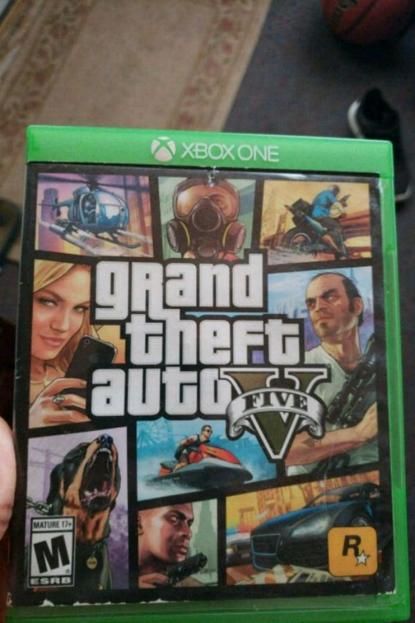 Grand Theft Auto Five Xbox One game case