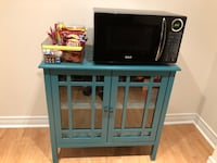 Teal Cabinet and Microwave  Richmond Hill, L4E 4K5