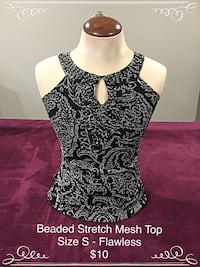4 Way Stretch Beaded Mesh Lincoln, L0R
