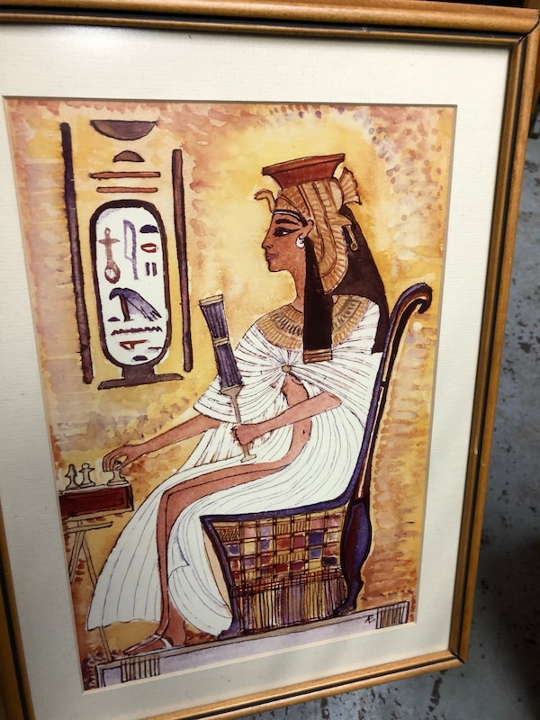 brown wooden framed painting of man in white suit 372edfc1-f8a5-45cf-9fbf-d8db91302bd3