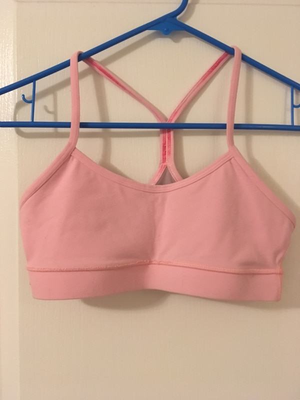 80ad682d7a Used lululemon flow y coral sports bra size 6 for sale in Frisco - letgo