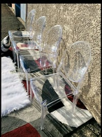 Beautiful Modern Philippe Starck Ghost Clear Chair 3 A/V