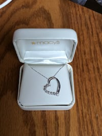 silver-colored Macy's necklace with heart pendant Morgan Hill, 95037