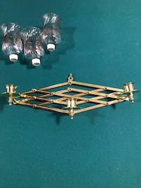 Solid brass candle holder Innisfil, L9S 2A4