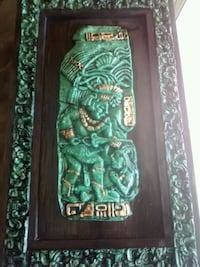 Heavy wall picture aztec or myan art