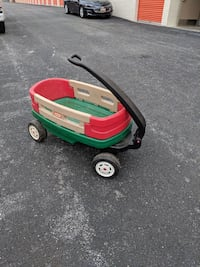 red, brown, and green Little Tikes pull wagon Gaithersburg, 20878