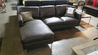 gray fabric sectional sofa with ottoman Mississauga, L4X 2X9