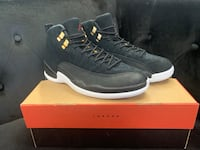 Air Jordan 12 Retro - Black / Black / White / Taxi Somerville, 02129