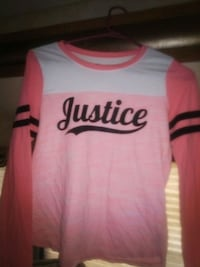 Girls size 12 long sleeve Justice shirt