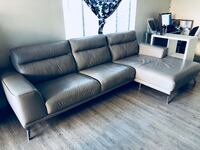 Leather Light Grey Couch Los Angeles