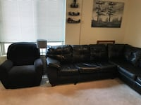 Leather Sectional and Recliner  SILVERSPRING