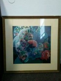 brown wooden framed painting of flowers Cleveland, 37323