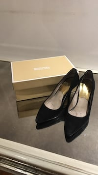 women's pair of black suede Michael Kors heeled shoes with box Vaughan, L4K 5G8