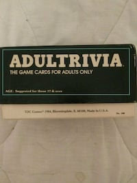Adult trivia card game