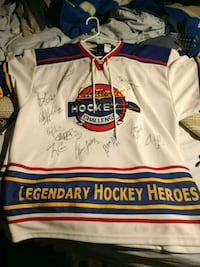 Signed Old Timers Hockey Jersey Shirt Barrie, L4M 4Y8