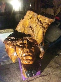 Hand carved native American Indian
