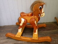 Wood carved rocking horse 2264 mi