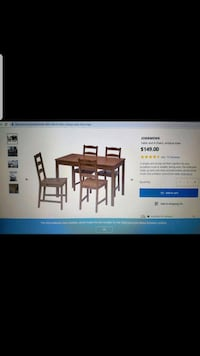 Brand new IKEA dining table and four chairs Toronto, M1V 4Y3