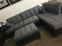 Fabric sectional with ottoman. Brand new.  Flower Mound, 75028