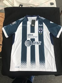 black and white AT&T jersey shirt