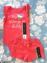 Pink My heart belongs to Daddy shirt and short set size 3-6 months New Scarborough, Toronto, ON, Canada