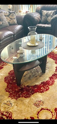 Glass wood coffee table + matching side table MOVING SALE! Toronto, M3A 3R6