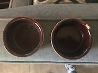 Two brown-and-gold ceramic containers El Paso, 79934