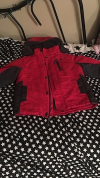 toddler's red and black zip-up hoodie