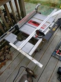 Table saw with wheels & folds craftsman4x4 10 inch Centereach, 11720