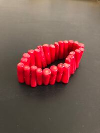 "Red Coral 8"" Stretch Bracelet Arlington, 22204"