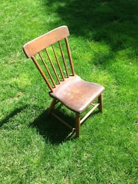 Early 19th century plank bottom, spindle back chairs. Sold as set of 8( very unusual for this period.) Frederick, 21701