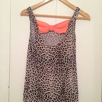 black and brown leopard print spaghetti strap top Toronto, M6E 2G6