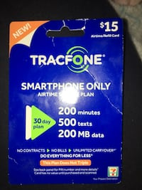 Tracfone Smartphone airtime data and text Service Card Essex, 21221