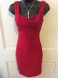 Red cocktail dress size 5