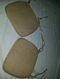 2 chair cushions new never used, beige