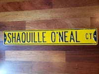 Shaquille O'neal Lakers NBA basketball street sign  Gresham, 97030