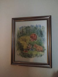 A Boy And His Dog Framed Picture Drawing Charleston, 29414