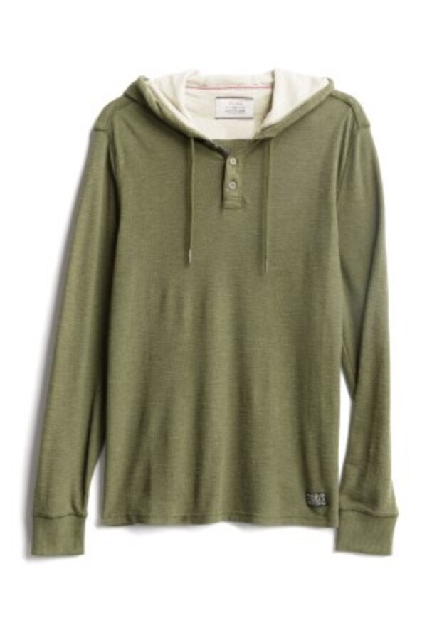 NWT Men's Small Flag & Anthem henley hoodie 0
