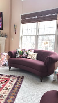 Sofas set of 2 purple Vienna, 22182