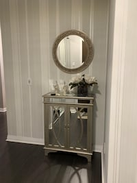 Bombay Mirror and Table Console/Cabinet Mississauga, L4Z 1N9