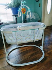 baby's white and gray bassinet Elizabeth City, 27909