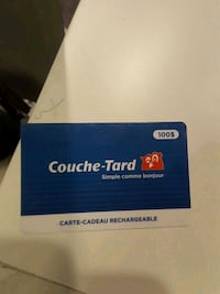100$ couche tard card for 90$