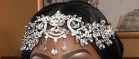 Gold and Silver Bridal Headpiece Mississauga, L5M