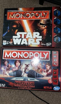 Star Wars and Stranger Things Monopoly