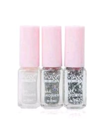 Cocktail Gradation Silver Nail Polish Set 3751 km