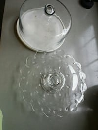 glass/marble cake stand and cover Accokeek, 20607