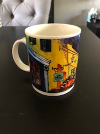 Starbucks Vintage Mug. Vincent Cafe Terrace at Night by Chaleur D Burrows 1999 Montréal, H8Z 3C3