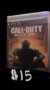 PS3 CALL OF DUTY BLACK OPS III $15 Chandler, 85224