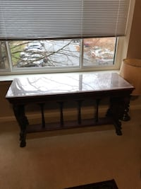 rectangular brown wooden framed glass top coffee table MOUNTAIRY