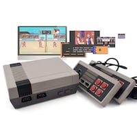 Game console based on the NES, 600 FULL games built in , 2 controllers, all the cables, PLUG AND PLAY.   Richmond, V7A 3B3